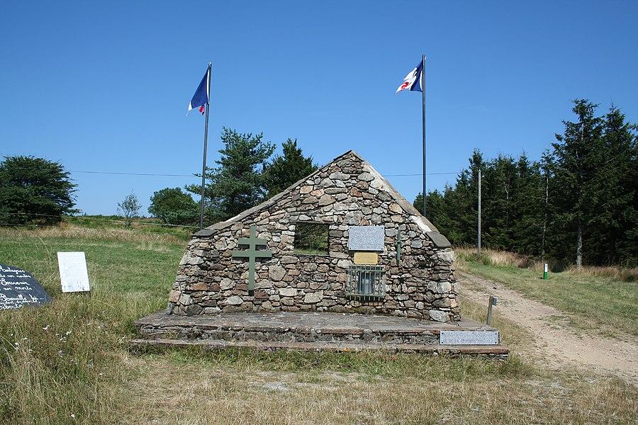 Fraisse-sur-Agout (Hérault) - Col de Fontfroide: Monument à la Résistance.