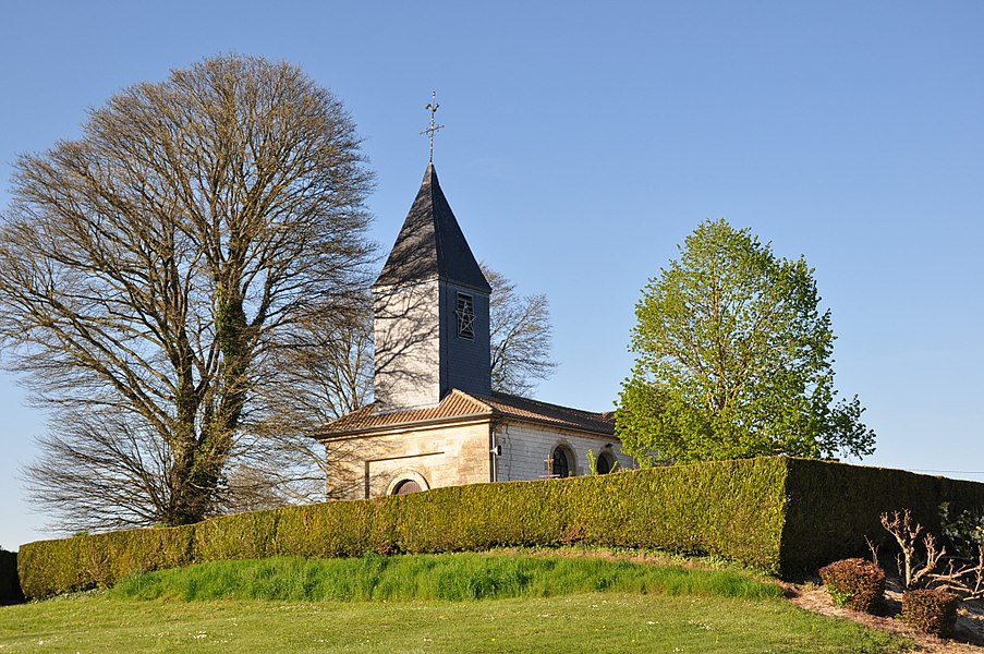 The church of Saint Silvin (Silvinus) in La Croix-en-Champagne (Marne Department, France).