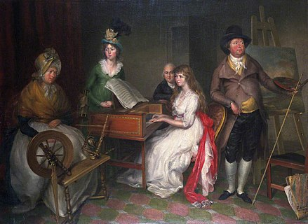 Francesco Renaldi, Thomas Jones and his Family (1797). Oil on canvas, 74.9 x 101.6 cm., National Museum Cardiff Francesco Renaldi - Thomas Jones a'i Deulu (1797).jpg