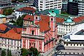 Franciscan church from Ljubljana Castle.jpg
