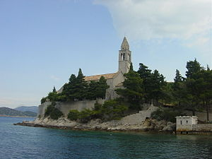 Lopud - Image: Franciscan monastery Lopud