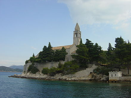 Franciscan convent at Lopud in Croatia Franciscan monastery Lopud.JPG