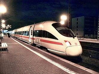 Frankfurt South station - ICE T Homburg/Saar in Frankfurt South station on its way to Frankfurt Airport