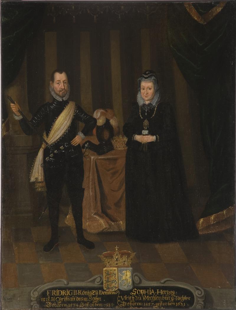 Фредрик II, 1534-1588 гг., Датский конунг.  София, 1557-1631, принцесса авеню Мекленбург - Национальный музей - 15292.tif