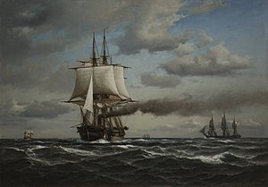 Anton Melbye - Danish Steam Frigate Jylland (1866)