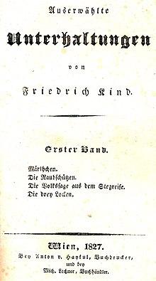 Auserwählte Unterhaltungen, Wien 1827 (Titelseite) (Quelle: Wikimedia)