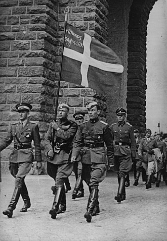 Free Corps Denmark - Free Corps Denmark marching in Germany 1941.