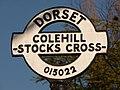 Furzehill, detail of Stocks Cross finger-post - geograph.org.uk - 1741416.jpg