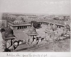 Futtehpore Sikri, General View from top of Gate LACMA M.90.24.53.jpg