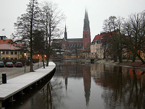Fyris - Fyris River in Uppsala (December 2007).