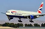 G-YMMR British Airways 2009 Boeing 777-236(ER) - cn 36516 - ln 771 (12649498934).jpg