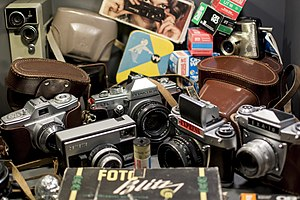 DDR Museum - Photographic films and cameras made in East Germany (GDR).