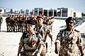 GEN. Michael Roquijedffre of France and GEN. Jaber Khalid Al Sabon of Kuwait take part in a beach reopening ceremony in Kuwait City. Roquijedffre's troops cleared the beach during O - DPLA - ce5d07a103355fb30b14d5c2cba902e1.jpeg