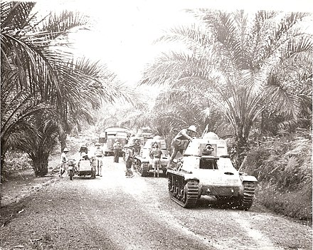 The Battle of Gabon resulted in the Free French Forces taking the colony of Gabon from Vichy French forces, 1940 Gabon campaign '1e Compagnie de Chars de Combat de la France Libre'.jpg