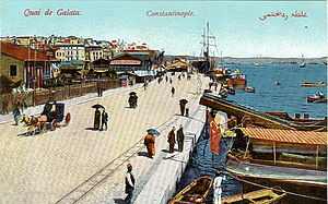 Karaköy - Karaköy quayside in the early 20th century