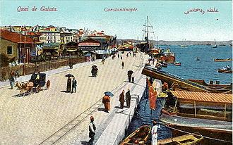 Karaköy - Karaköy quayside in the early 20th century