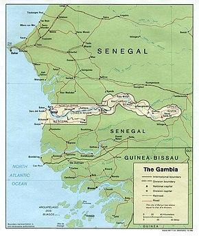 Cartina Fisica Senegal.Geografia Del Gambia Wikipedia