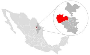 García, Nuevo León - Image: Garcia location