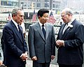 Gary Ackerman, Michael Bloomberg, and Roh Moo-hyun.jpg