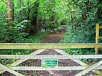 Gateway and path, Lower Woods Nature Reserve - geograph.org.uk - 486862.jpg