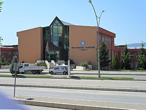 Tokat - Gaziosmanpaşa University Faculty of Arts and Sciences building.