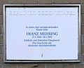 Gedenktafel Beymestr 7 (Stegl) Franz Mehring.jpg