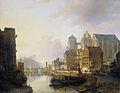 Gefantaseerd gezicht in een stad aan een rivier met de Dom te Aken Rijksmuseum SK-A-2233.jpeg
