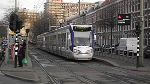 Monstersestraat RandstadRail station - Image: Gekoppelde randstadrailtrams bij Monstersestraat 2