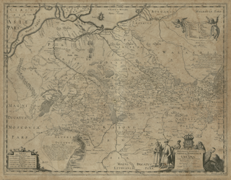 Guillaume Le Vasseur de Beauplan - General Depiction of the Empty Plains (in Common Parlance, Ukraine) Together with its Neighboring Provinces created 1648 by Beauplan.