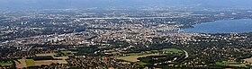 Blick auf Genf vom Mont Salève