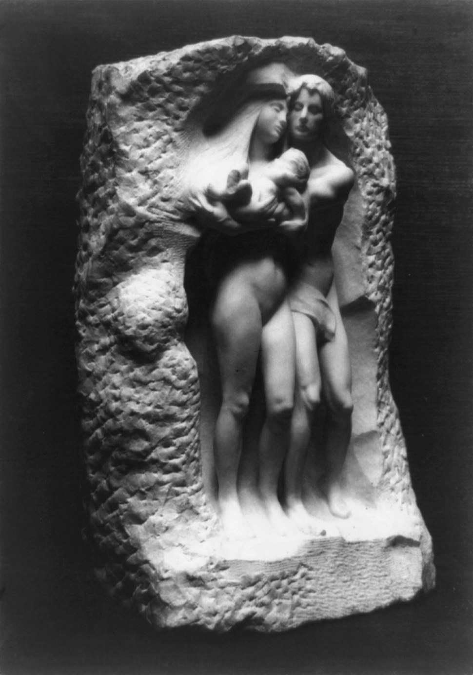 George Grey Barnard, The Birth, marble, exhibited at the Armory Show, 1913