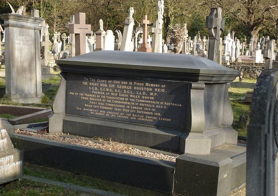 George Reid grave Putney Vale 2015