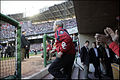 George W. Bush about to throw out 1st pitch at Nationals home opener 2005-04-14.jpg