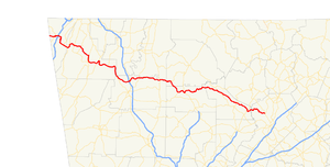 Georgia State Route 136 - Image: Georgia state route 136 map