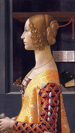 Albizzi - Giovanna degli Albizzi (Tornabuoni) by Domenico Ghirlandaio, 1488  (Thyssen-Bornemisza Museum)