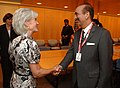 Ghulam Nabi Azad meeting the US Secretary for Health & Human Services, Ms. Kathleen Sebelius, during dialogue on the India US Health Initiative, in Washington on June 25, 2010.jpg