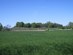 Giecz - Mound at Giecz, site of an important 10th-century Piast dynasty fort