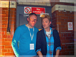 Henry Holland (fashion designer) - Henry Holland (right) with fellow designer Giles Deacon