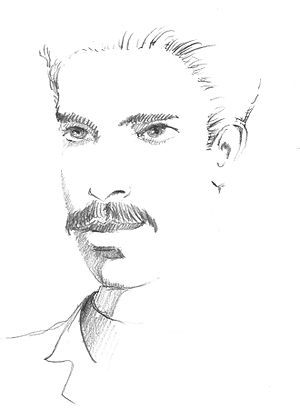 Gino Loria - Portrait of Gino Loria in pencil on paper