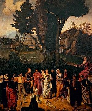 The Judgement of Solomon (Giorgione) - Image: Giorgione, giudizio di salomone