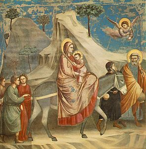 Giotto - Scrovegni - -20- - Flight into Egypt.jpg