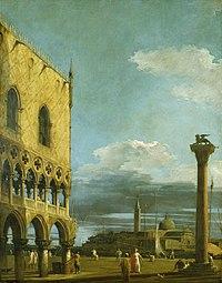 Giovanni Antonio Canal, il Canaletto - The Piazzetta towards San Giorgio Maggiore - WGA03873.jpg