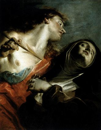 Religious ecstasy - The Ecstasy of Saint Teresa by Giuseppe Bazzani