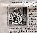Giuseppe maria bianchini, Dei Granduchi di Toscana della real Casa De' Medici, per gio. battista recurti, venezia 1741, 24 capolettera, atena con scudo medici.jpg