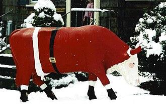 Gladys the Swiss Dairy Cow - Gladys as Santa Cow