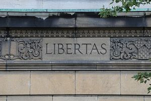 Montreal Masonic Memorial Temple - Libertas Detail