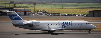 Go! (airline) - A CRJ-200 showing Go!'s simplified livery