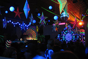 Psychedelic trance - An indoor event