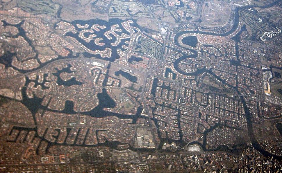 Goldcoast Queensland Australia aerial view