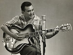 Hoyer Guitars - Indonesian artist Gordon Tobing using a Hoyer Special in the 1960s.